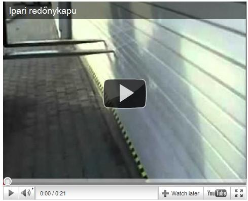 Redőnykapu - Videó galéria
